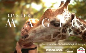 Kenya Tourism Board – Live the Magic Safari 2017 – Win a 9-day Cosmos Kenya Safari for 2 valued at $10,000