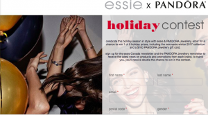 L'Oreal Canada – Essie X Pandora Holiday Look – Win 1 of 5 holiday prizes valued at $160 each