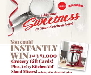 Lantic Rogers – Add Some Sweetness to Your Celebrations – Win 1 of 153 prizes valued at up to $1,000