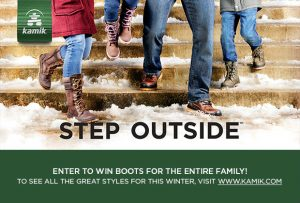 ParentsCanada – Win Boots for the entire family from Canadian brand Kamik valued at $500