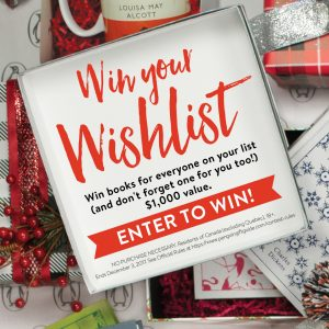 Penguin Random House Canada – Win Your Wishlist – Win up to $1,000 worth of books from the Holiday Gift Guide