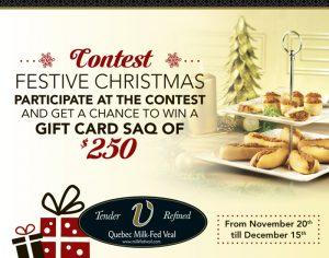 Publisac – Festive Christmas – Win a $250 SAQ Gift Card
