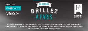 Radio-Canada – De Retour Brillez A Paris – Win a trip for 2 to Paris valued at $5,000