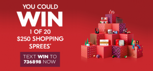 Shoppers Drug Mart – Win 1 of 20 Shopping sprees valued at $250 each