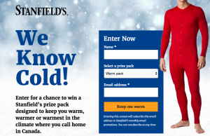 Stanfield's – Win a package of 4 Stanfield's products valued at $200