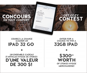 Stokes – Win a price package of a 32GB Silver iPad plus Hygge Gift Set