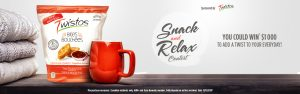 Tasty Rewards – Twistos Snack and Relax – Win a $1,000 cash prize