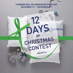 Tempur-Pedic Canada – 12 Days of Christmas – Win a Queen Size Tempur-Pedic mattress & Adjustable Base OR 1 of 11 other prizes (total valued at $9,000)