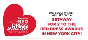Woman's Day – 2018 Red Dress Awards – Win 2 tickets to the 2018 Woman's Day Red Dress Awards n New York & a $1,000 check