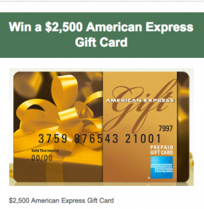 etraveltrips – Win a $2,500 American Express Gift Card