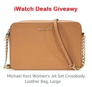 iWatch Deals – Win a Michael Kors Women's Leather Bag