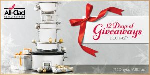 All-Clad – 12 Days of Giveaways – Win an All-Clad prize valued up to $600 each day