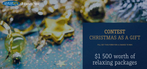 Amerispa – Christmas Gift – Win 1 of 2 Classic Christmas Spa packages valued at $870 each