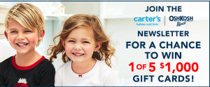 Canada.com – Win 1 of 5 Carter's gift cards valued at $1,000 each