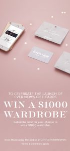 Ever New – Win a $1,000 Wardrobe