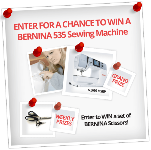 My Bernina – Win a Bernina 535 Sewing machine OR Weekly prizes