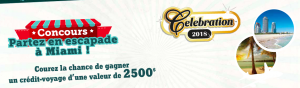 Quebec Convenience and Grocers Association – Win a Getaway in Miami valued at $2,500 (flight & accommodation included)