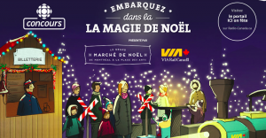 Radio – Canada – CBC – Embark on the magic of Christmas – Win a train trip for 2 to Jasper