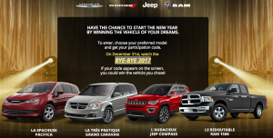 Radio-Canada – Win the Vehicle of your dreams