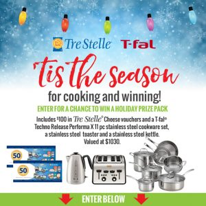Tre Stelle – Win a holiday prize pack valued at $1,030