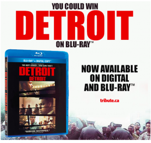 Tribute Publishing – Win 1 of 5 copies of Detroit on Blu-ray valued at over $29 each