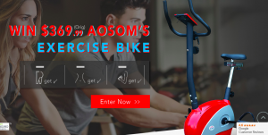 Aosom – Win an Aosom's Exercise Bike valued at over $369