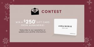 Aubainerie – Win a $250 Gift Card from Aubainerie