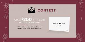 Aubainerie – Win a $250 Gift Card from Aubainerie