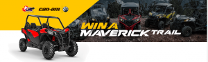 Bombardier Recreational Products – Win a Can-Am Maverick Trail DPS 800 valued at $16,509; an Instant prize valued at $15,000 OR 1 of 9 Weekly prizes