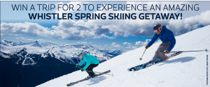 Canada.com – Win a 4-night trip for 2 to Whistler , British Columbia for a spring skiing getaway valued at $5,370