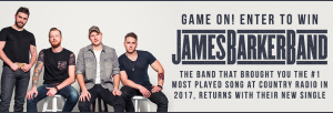 Canada.com – Win a James Barker Band prize package valued at $600 CDN