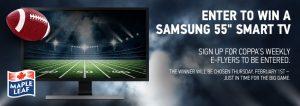 Coppa's Fresh Market – Win a Samsung 55″ Smart TV
