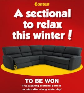 EconoMax – A Sectional to Relax this Winter – Win a Reclining Sectional valued at $1,799