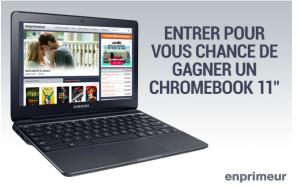 Enprimeur – Win a Chromebook 11 valued at $300 CDN
