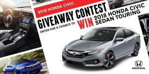 Honda Canada – Win a 2018 Honda Civic Sedan Touring automobile valued at CAN$33,055