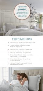 House Beautiful Scandia Home – Win a Scandia Home Luxury Bedding Ensemble valued at $3,901