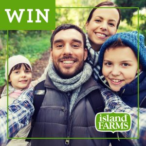 Island Farms – Win 1 of 5 VISA Gift Cards valued at $100 each