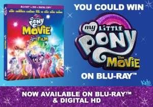 "Kids Tribute Publishing – Win 1 of 5 copies of ""My Little Pony The Movie"" on Blu-ray"