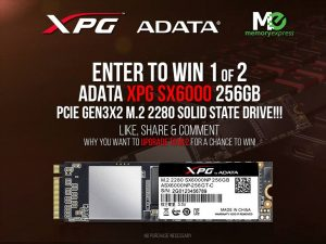 Memory Express – Win 1 of 2 Adata XPG SX6000 256GB Solid State Drives
