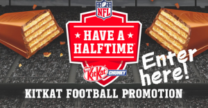 Nestle Canada – KitKat Football – Win 1 of 400 prizes of 2 NFL Shirts, a NFL Football & a NFL Hat