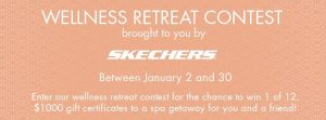 Penningtons and Skechers – Wellness Retreat – Win 1 of 12 one Way Spa gift cards valued at $1,000 each