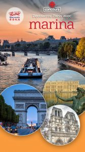 Radio-Canada – Discover Paris with Marina – Win a trip for 2 to Paris, France