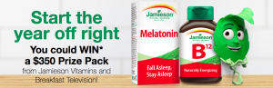 Rogers – Breakfast Television and Jamieson Laboratories – Win 1 of 4 monthly prize packs valued at up to $350 each