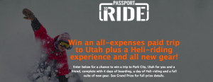 Summit Sports – Passport to Ride – Win a 4-day trip for 2 to Park City, Utah
