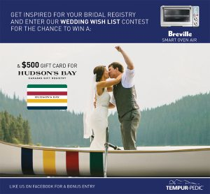 Tempur-Pedic – Win a $500 Hudson's Bay Gift Card