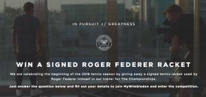 The All England Lawn Tennis Club – Win a Wilson Pro Staff RF97 Autograph tennis racket and cover, signed by Roger Federer in Dubai