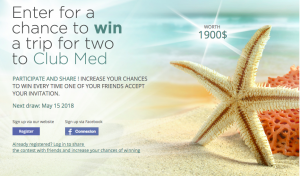 Tours Cinquieme Saison – Win a 7-night stay for 2 at Club Med valued at $1,900