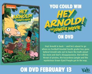 Tribute Publishing Kids – Win 1 of 5 copies of Hey Arnold The Jungle movie on DVD valued at over $19 each