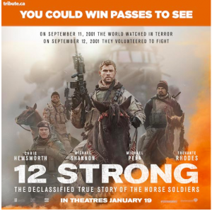 Tribute Publishing – Win 1 of 10 double passes to 12 Strong Advance Screening & ROE