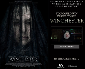 Tribute Publishing – Win 1 of 30 double passes to see Winchester valued at $22 each